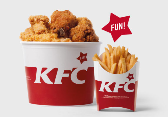 KFC Packaging Design in Russia